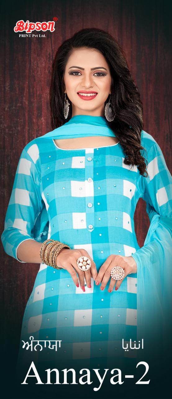 Bipson Annaya 2 Cotton Satin Print With Mirror Handwork Designer Suits Wholesale