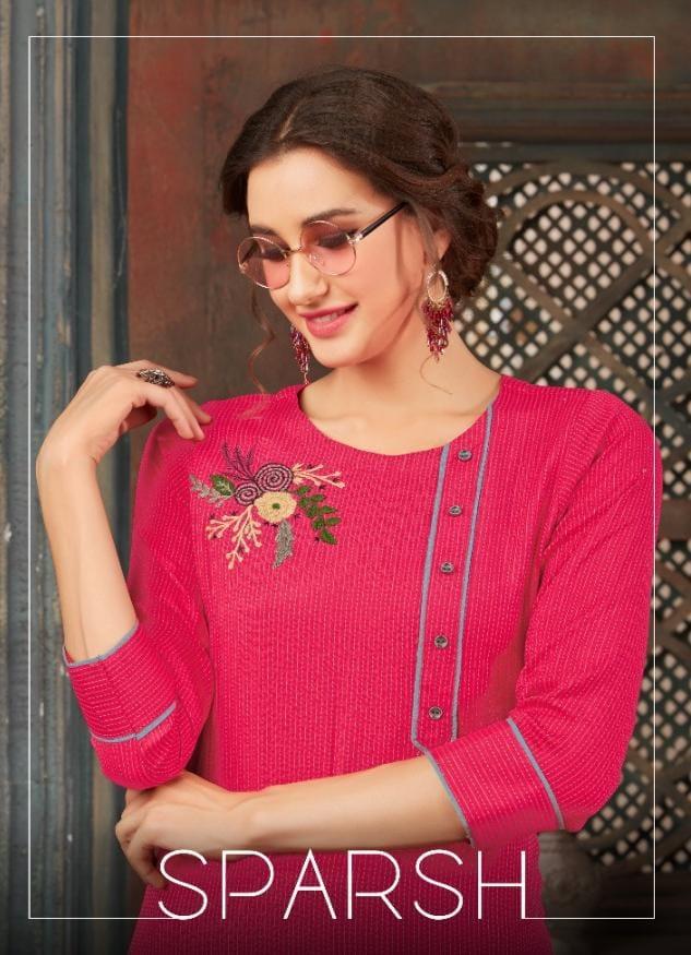 Sweety Fashion Sparsh Rayon Designer Kurties Wholesale