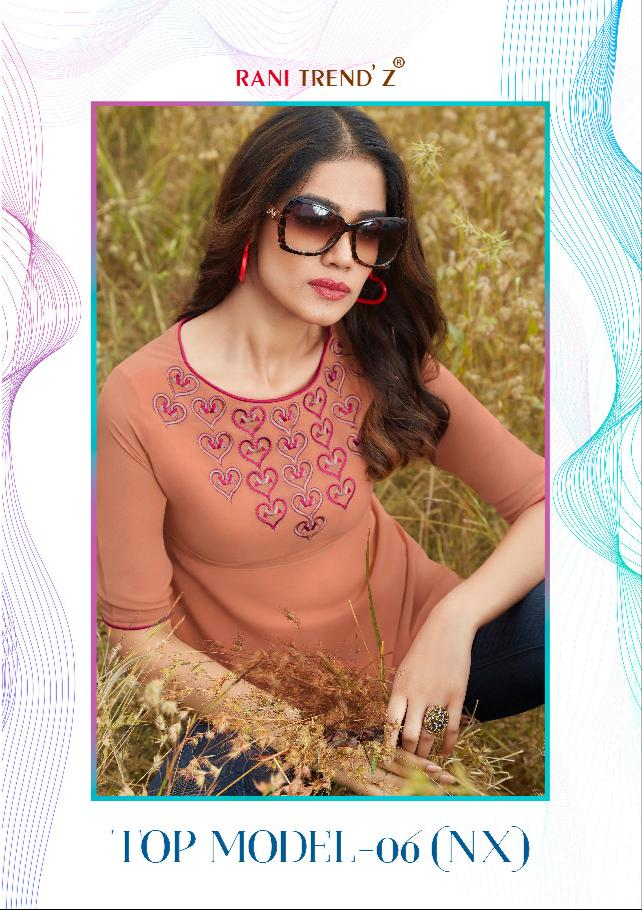 Rani Trendz Top Modal Vol 6 Nx Designer Faux Georgette Stitched Daily Wear Tops In Best Wholesale Rate