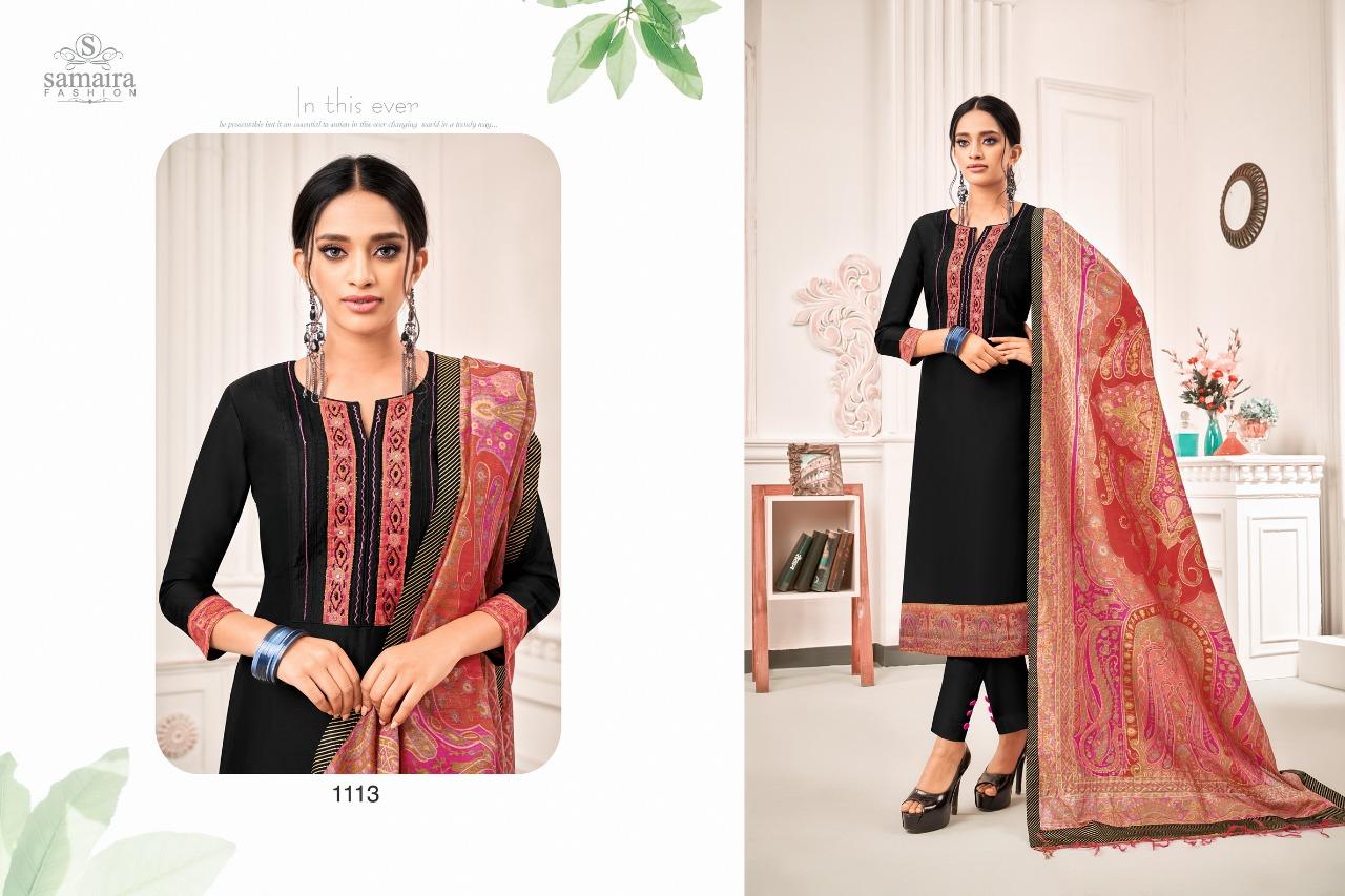 Samaira Abhinandan Vol 3 Designer Work With Jam Silk Festival Wear Suits In Best Wholesale Rate