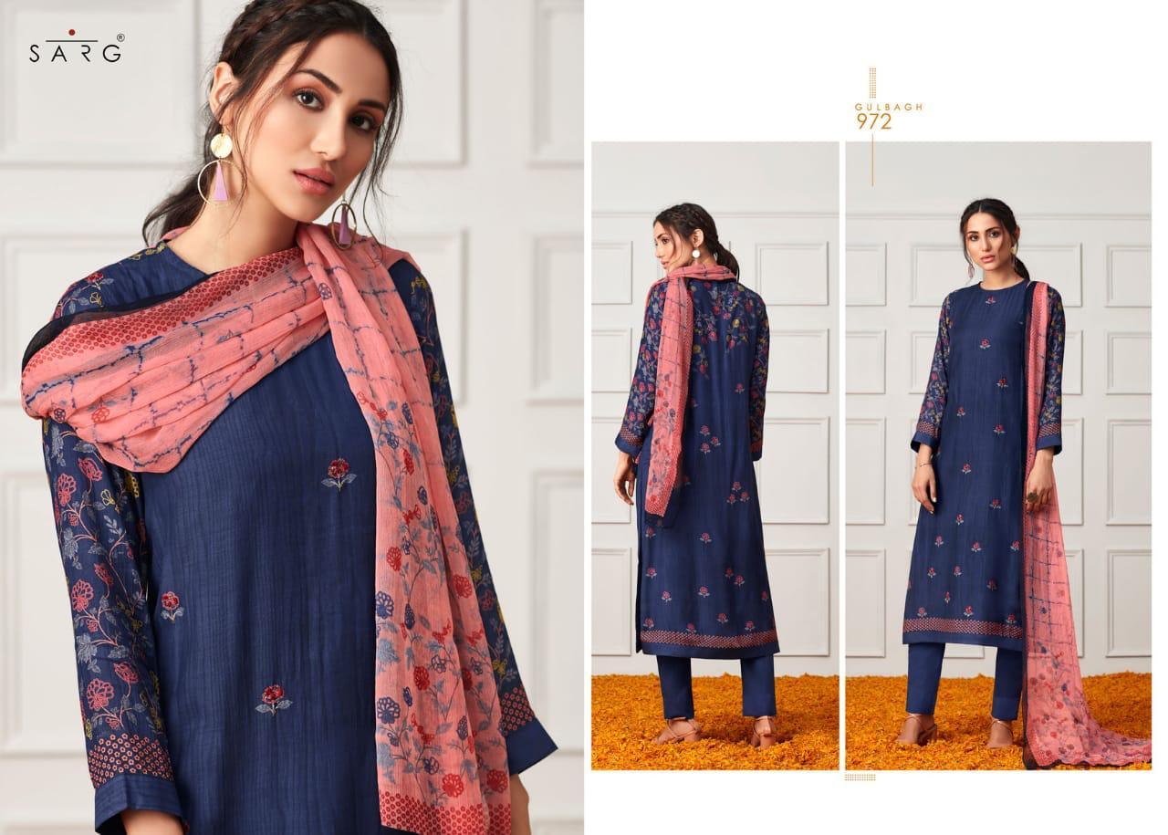 Sarg Gulbagh  Designer Cotton Silk Digital Print With Handwork Suits In Best Wholesale Rate