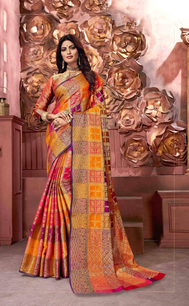 Sangam Krishna Puram Designer  Banarasi Silk Festival Wear Sarees In Best Wholesale Rate