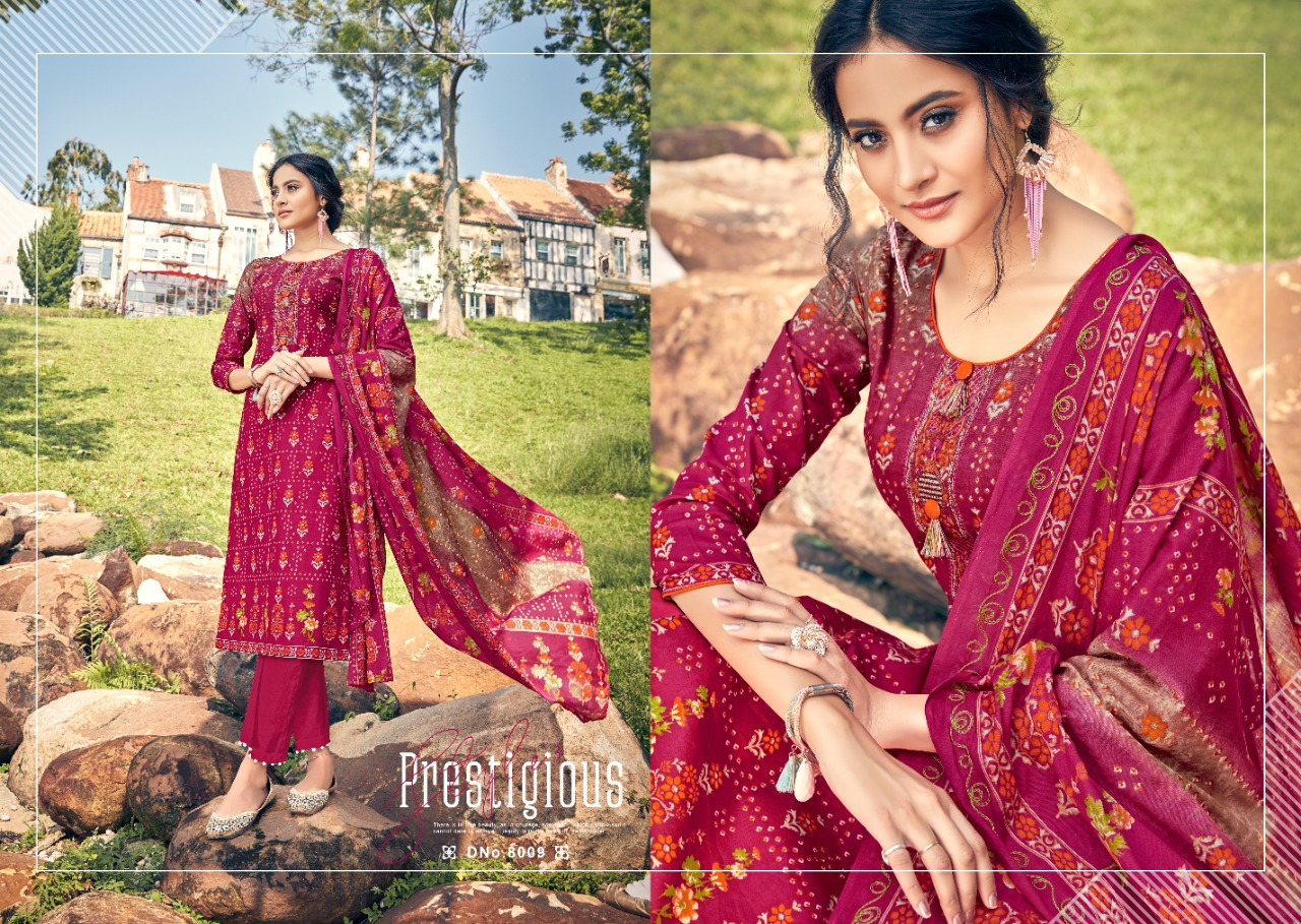 Radhika Mussret 8 Designer Embroidery Work Daily Wear Suits In Best Wholesale Rate