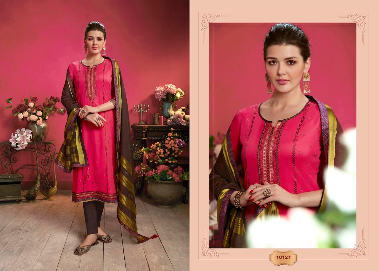 Ramaiya Malhar Designer Jem Silk Swarovski Diamond With Embroidery Work Festival Wear Suits In Best Wholesale Rate