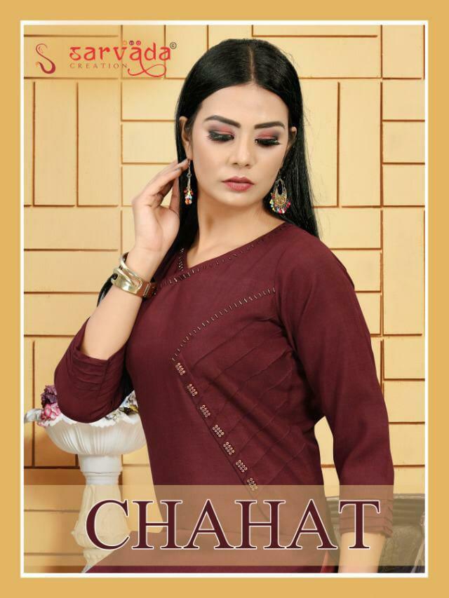 Sarvada Chahat Designer Hand Work Office Wear & Daily Wear Kurtis In Best Wholesale Rate