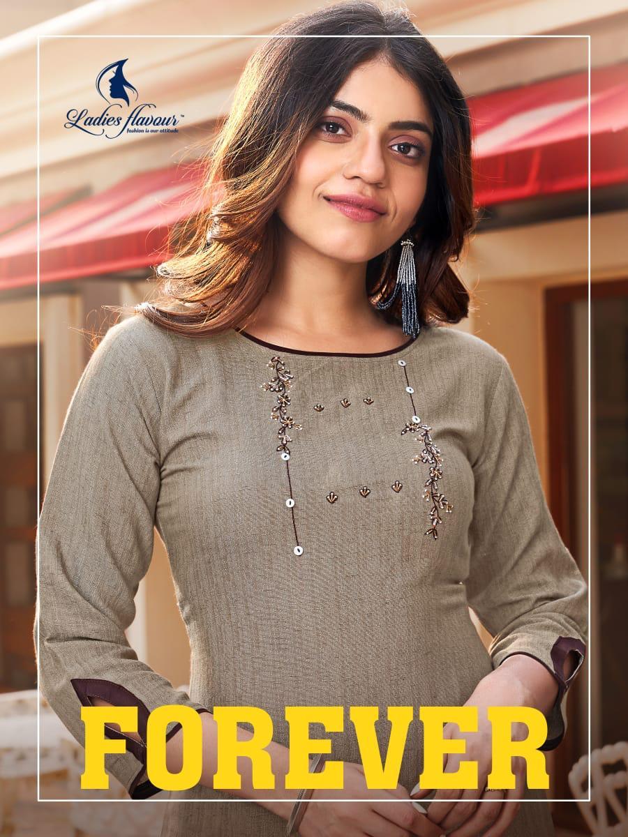 Ladies Flavour Forever Designer Rayon Handwork Kurtis Best Wholesale Rate