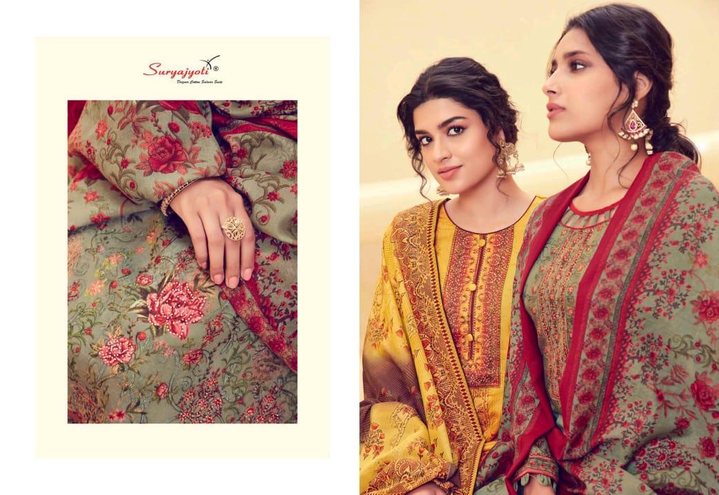 Suryajoti Nushrat Vol 2 Designer Satin Cotton With Aari Work Suits Wholesale