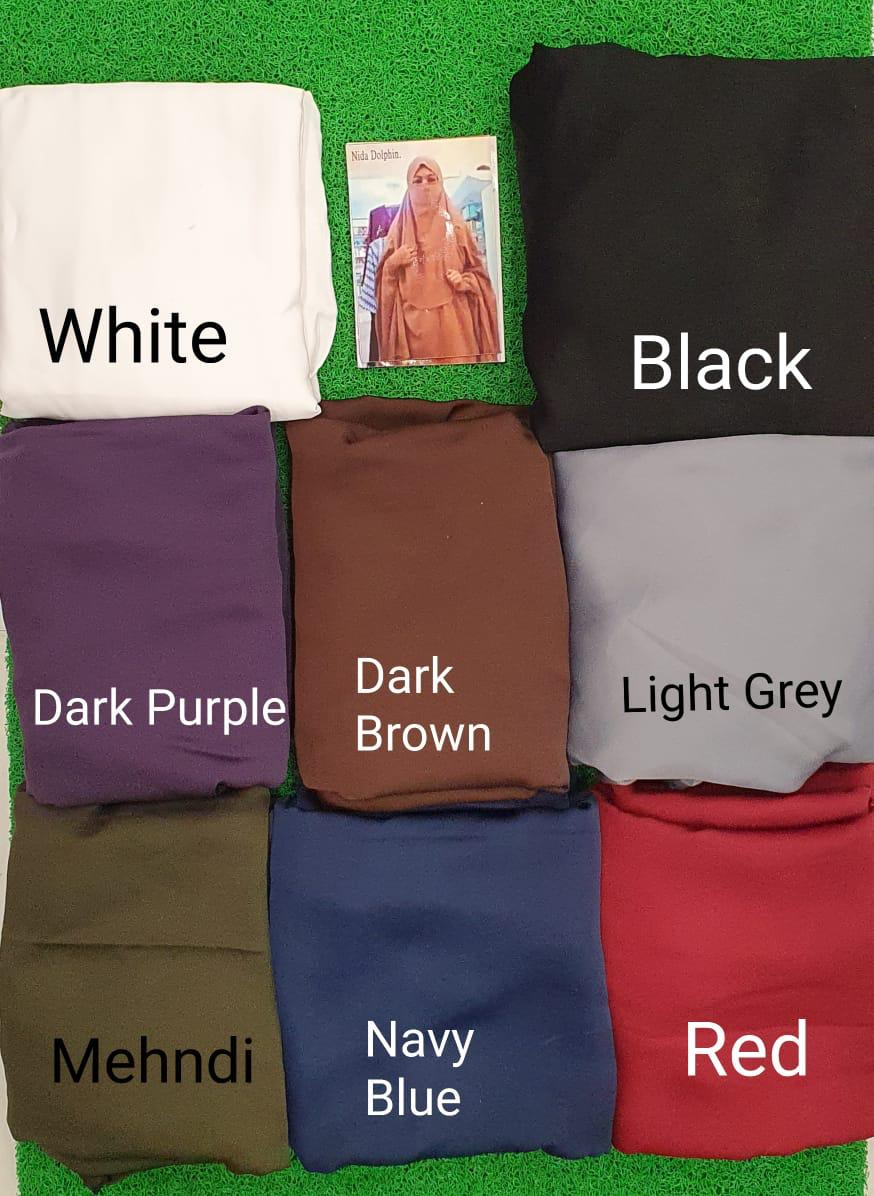 Nida Dolphin Khimar/jilbab Dolphin With Sleeves And Nakab Easy To Wear In Lowest Rate Wholesale Or Singles
