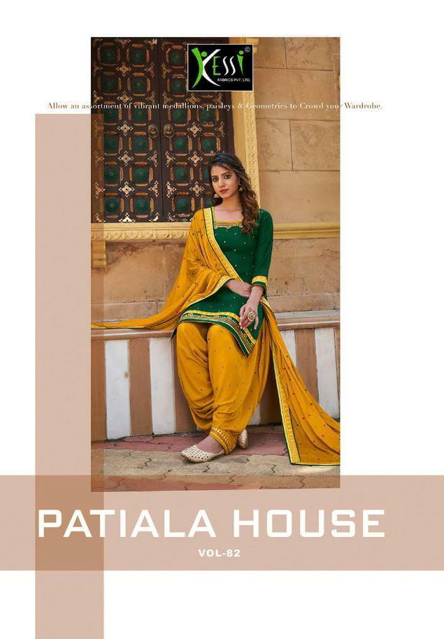 Kessi Patiyala House Vol 82 Designer Jam Silk With Work Patiyala Suits Wholesale
