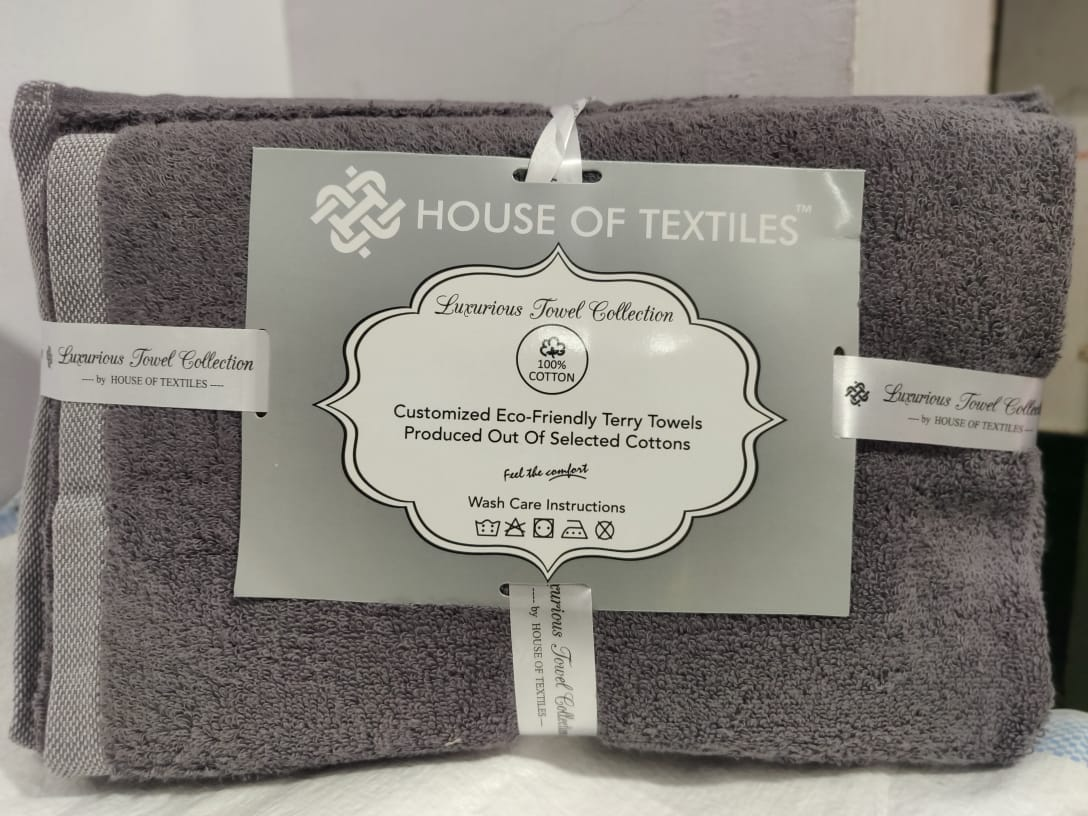 Luxurious Towel Collection Zero Twist Cotton Bath And Hand 2 Piece Towel Collection In Singles
