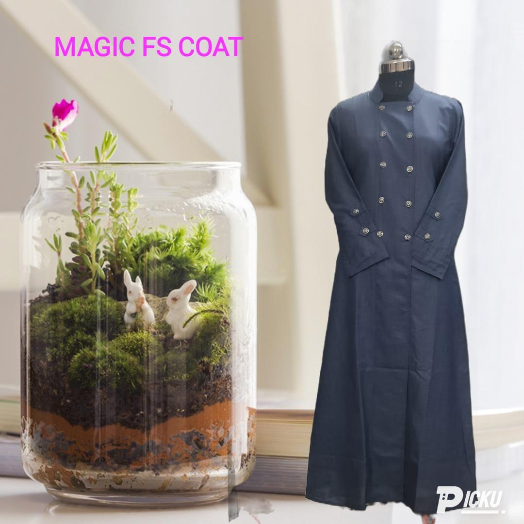 Cotton Jeans Coat Designer Stylish Jeans Coat Front Open Coat With Buttons In Singles