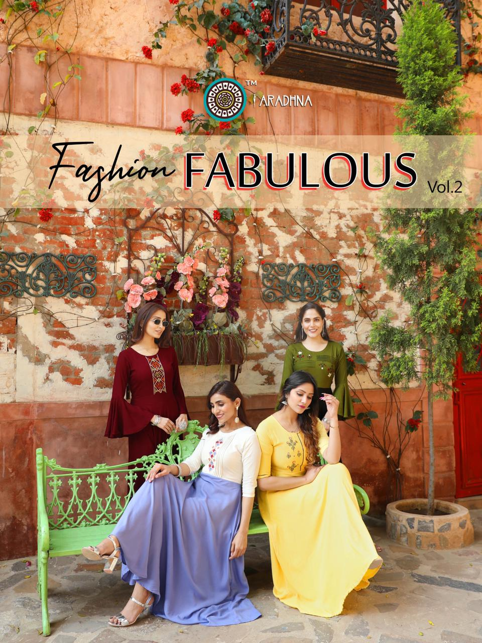 Aradhna Fashion Fabulous Vol 2 Designer Rayon Embroidery Work Gowns Wholesale