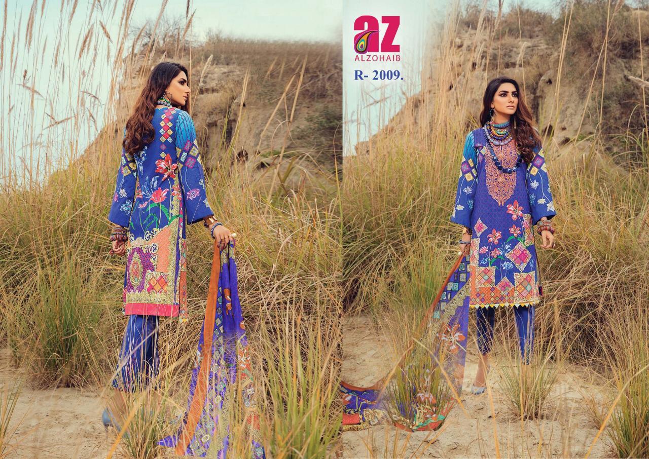 Az Roohi Cotton Collection Designer Lawn Cotton Printed Suits Wholesale