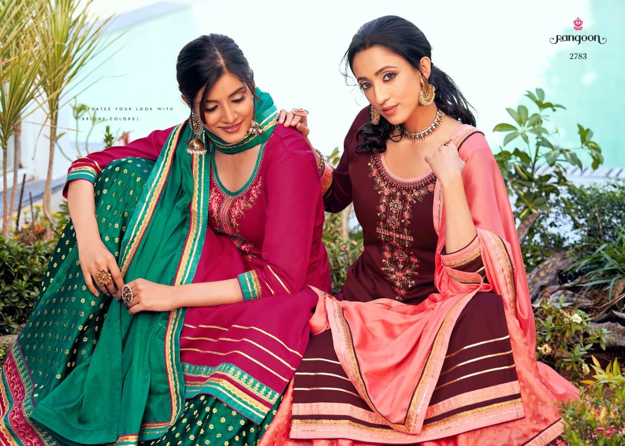 Rangoon Apsara Vol 3 Designer Jam Silk With Embroidery Work Stitch Lehenga Suits Wholesale