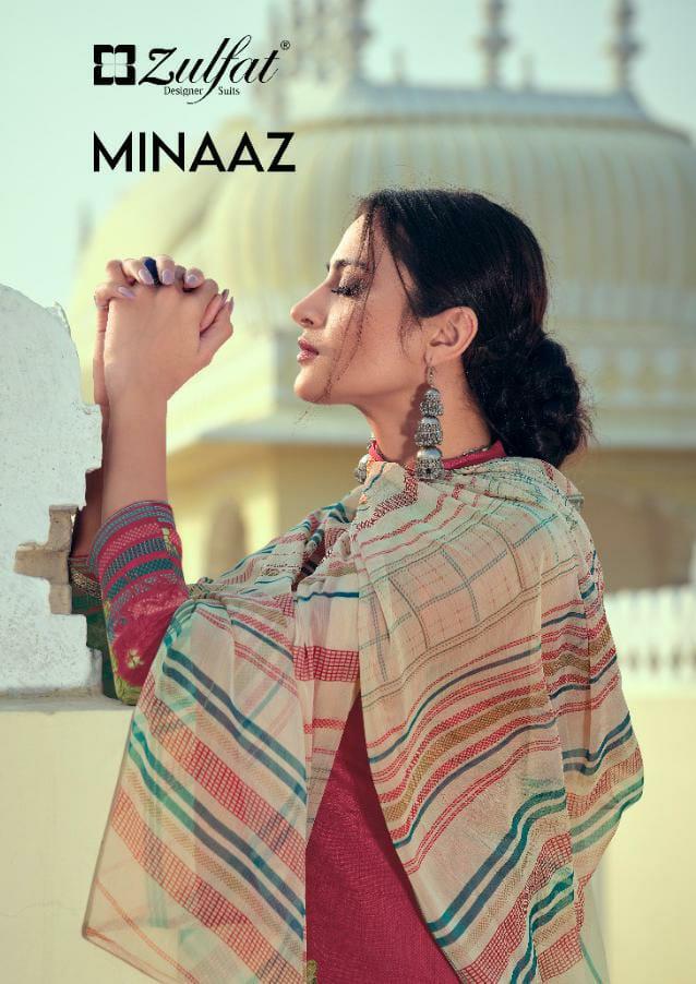 Zulfat Designer Minaaz Designer Jam Cotton Digital Printed Suits Wholesale