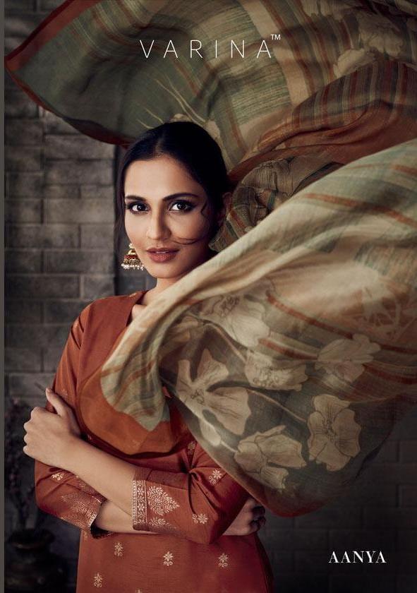 Varina Aanya Designer Banarasi Jacquard With Handwork Suits Wholesale