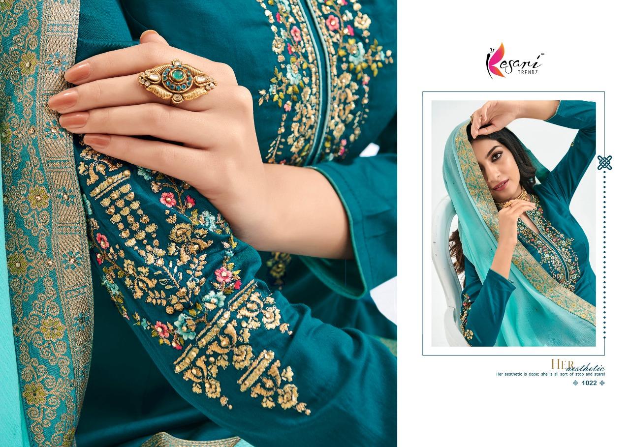 Kesari Trendz Rajoo Vol 1 Designer Jam Silk With Heavy Embroidery Work Suits Wholesale
