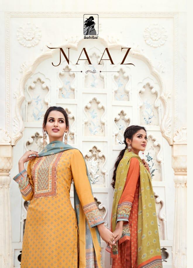 Sahiba Naaz Designer Muslin Silk Digital Printed With Handwork Suits Wholesale