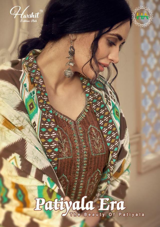Harshit Fashion Hub Alok Suits Patiyala Era Designer Cotton Negative Print With Embroidery Work And Swarovski Work Suits Wholesale