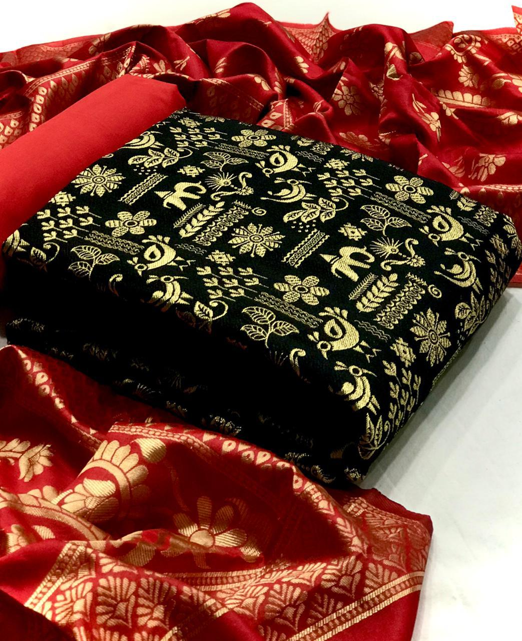 Banarasi Silk Suits Designer Banarasi Silk Suits In Single