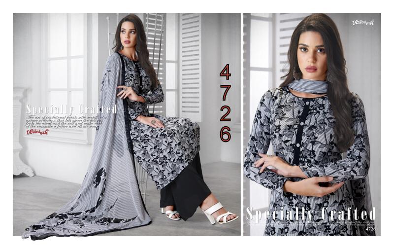 Vaishali Prints Designer Unstitched Crepe Material Suits Wholesale