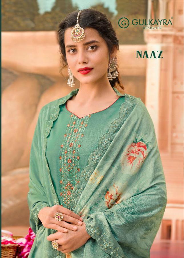 Gulkayra Designer Naaz Jam Silk With Heavy Embroidery Work Suits Wholesale