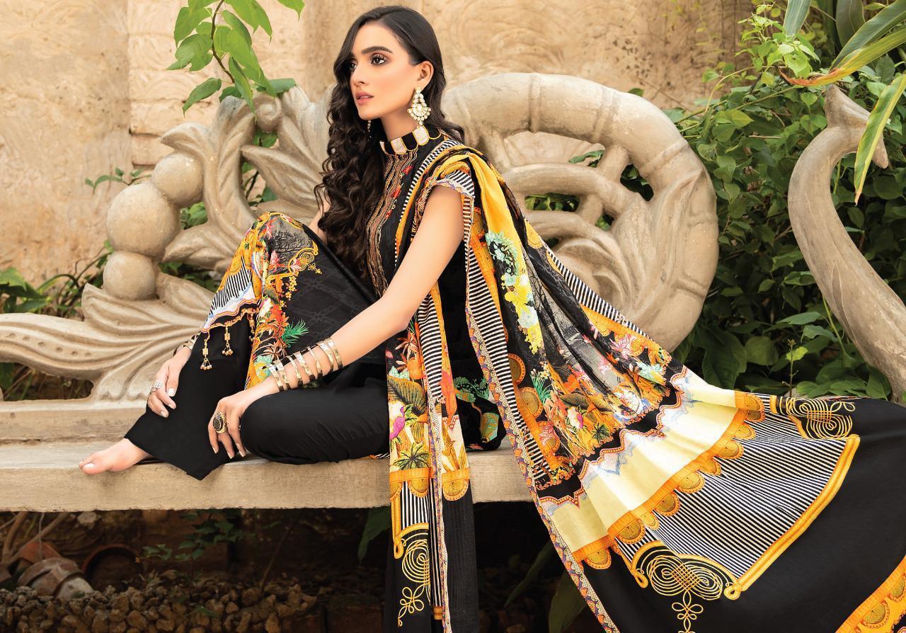 Mahnoor Vol 3 Designer Pure Lawn Digital Style Printed Suits Wholesale