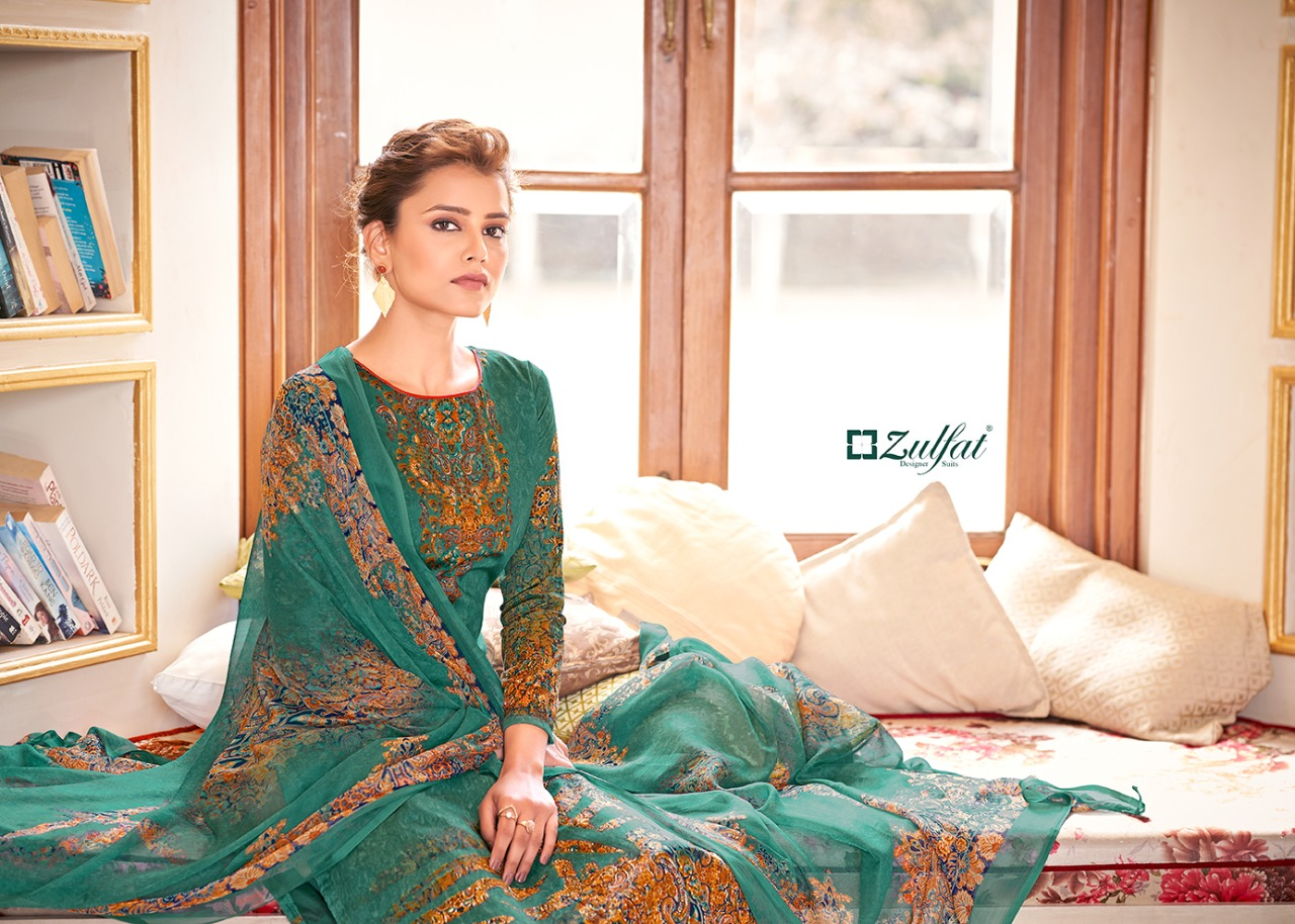 Zulfat Designer Antara Designer Pure Heavy Jam Cotton Digital Printed Suits Wholesale