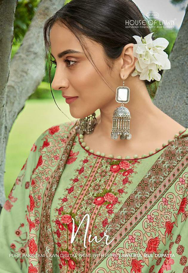 Mumtaz Arts Nur Digital Print Designer Pure Pakistani Lawn Digital Printed Suits Wholesale