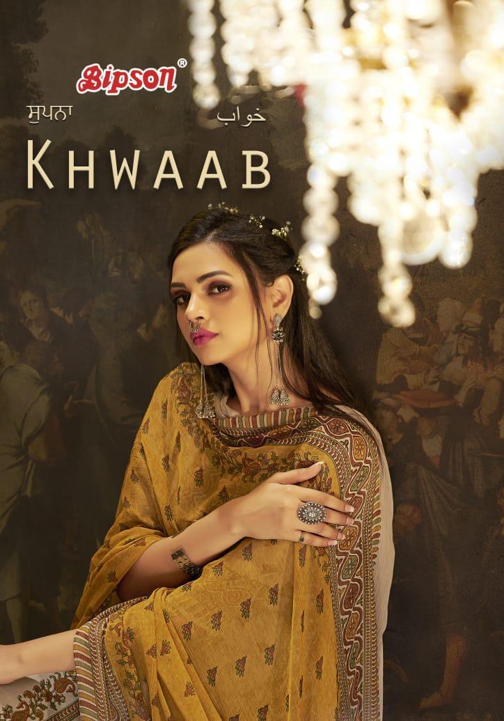 Bipson Khwaab Designer Cotton Slub Print With Work Suits Wholesale