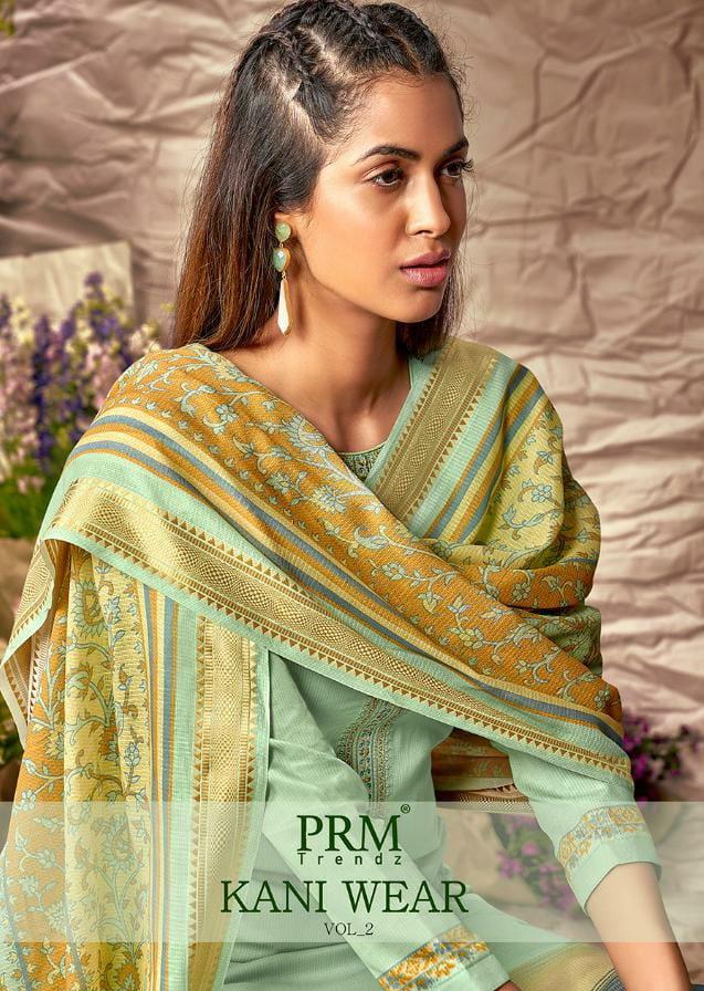 Prm Trendz Kani Wear Vol 2 Designer Jam Silk Digital Print With Fancy Work Suits Wholesale
