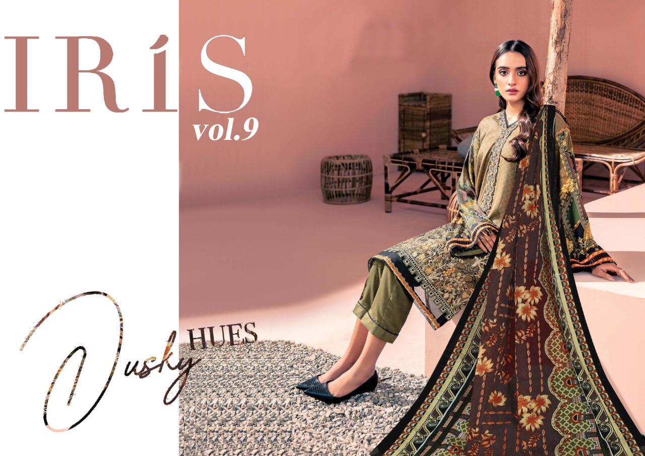 Iris Vol 9 Karachi Edition Designer Karachi Pattern Low Range Cotton Suits Wholesale