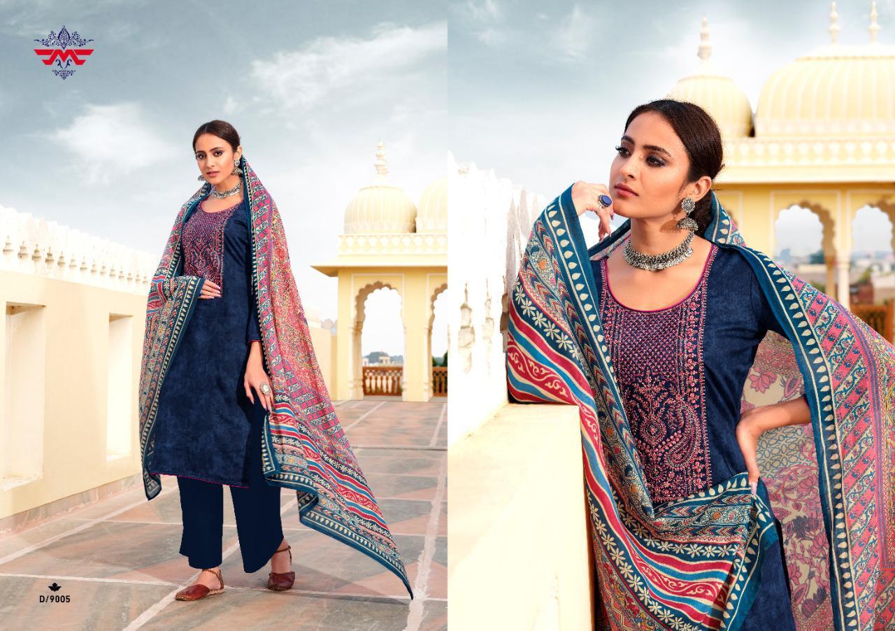 Hansa Muse Netra Designer Pure Jam Print With Work Suits Wholesale