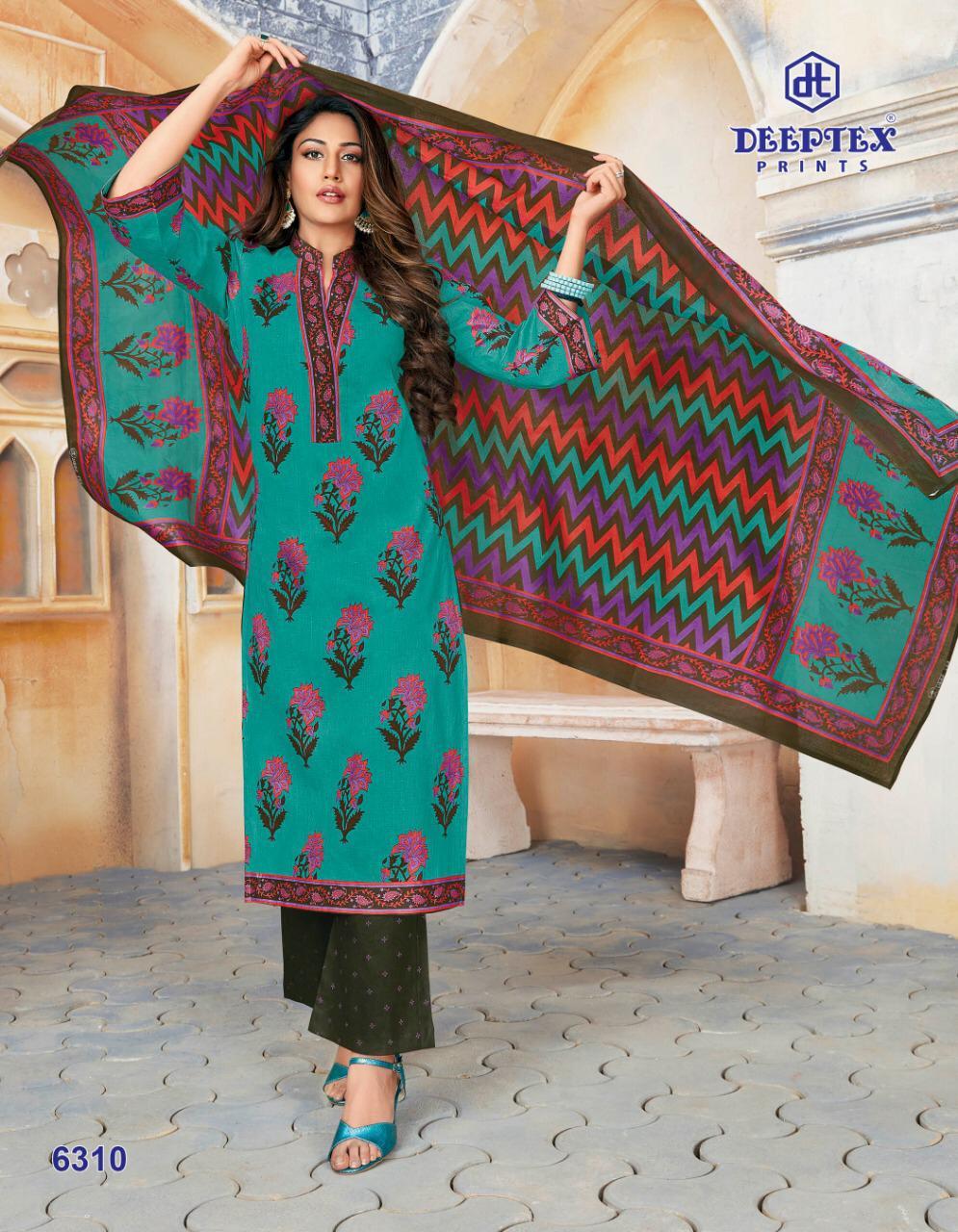 Deeptex Miss India Vol 63 Designer Cotton Printed Low Range Suits In Singles