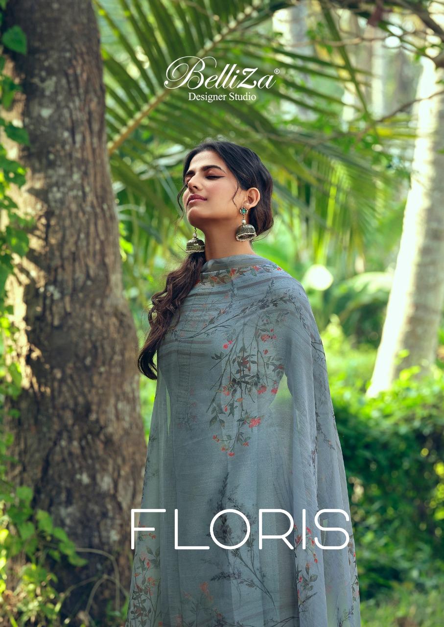 Belliza Floris Designer Jam Cotton Digital With Heavy Embroidery Work Suits Wholesale