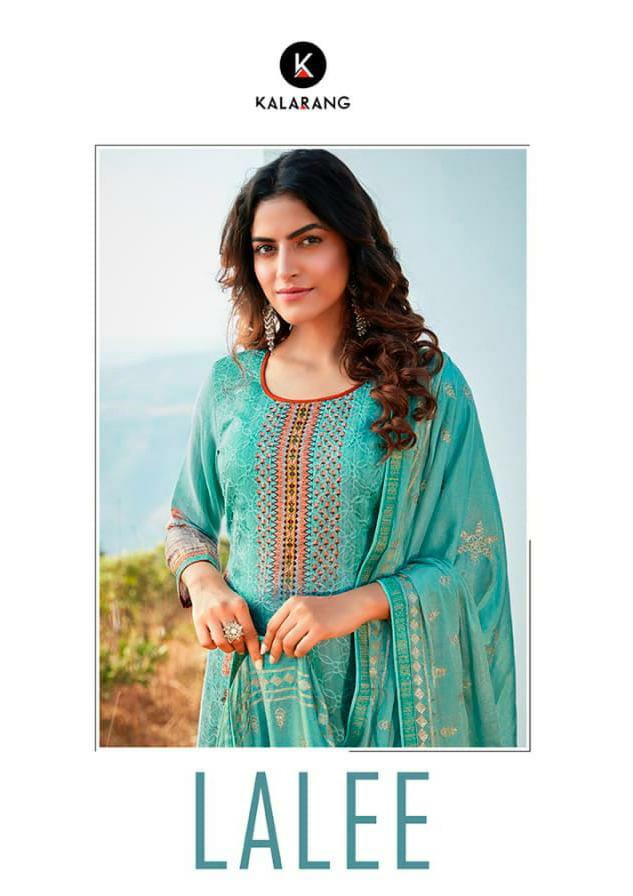Kalarang Lalee Designer Jam Digital Print Aari And Swarovski Work And Diamond Work Suits Wholesale