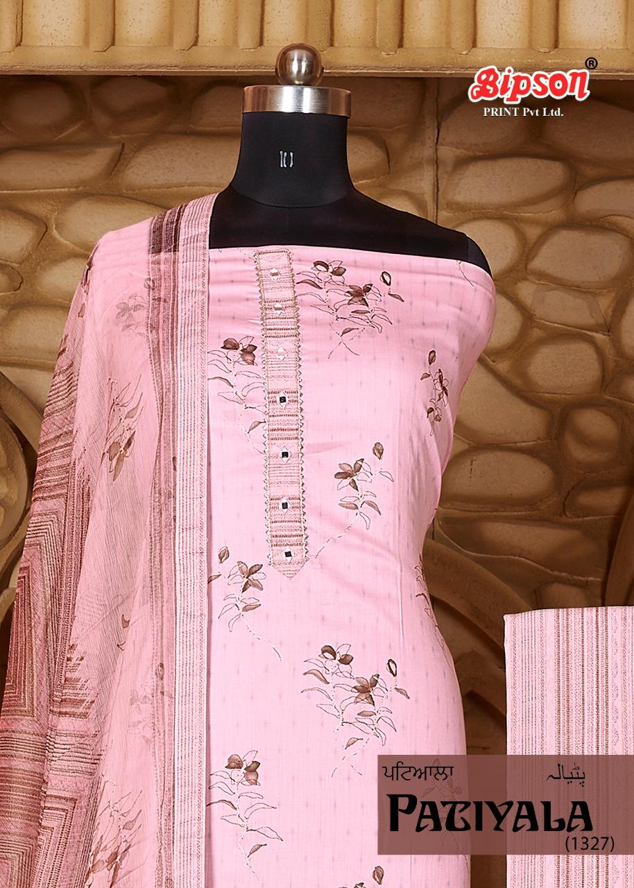 Bipson Patiyala 1327 Designer Jam Satin Foil Printed Suits Wholesale