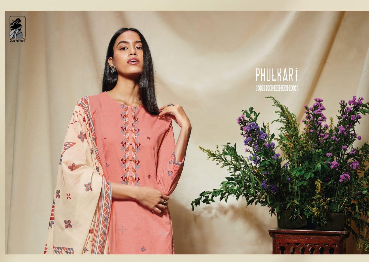 Sahiba Pulkari Designer Cambric Cotton Digital Print With Handwork Suits Wholesale