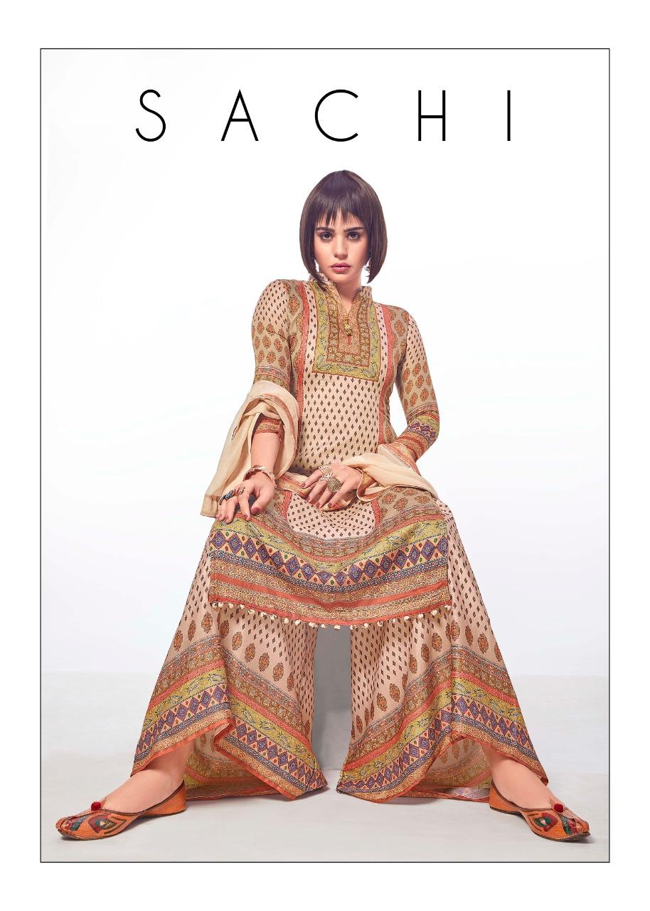 Bipson Sachi Designer Cotton Satin Digital Printed Suits Wholesale