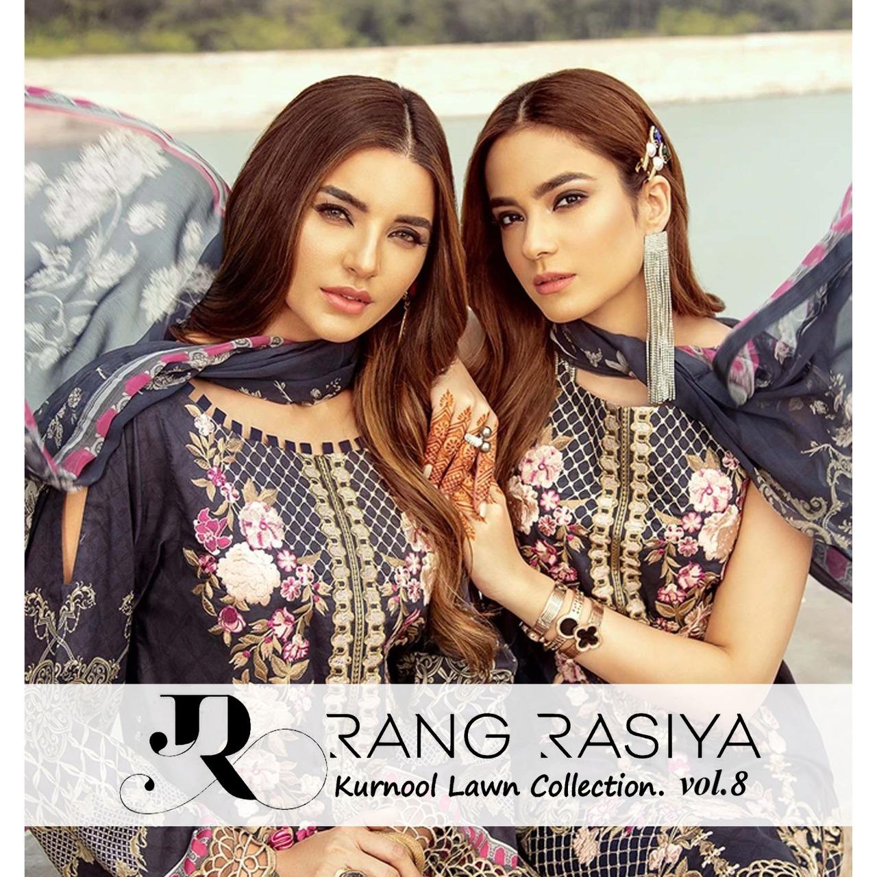 Rang Rasiya Kurnool Lawn Collection Vol 8 Designer Lawn Cotton Printed Suits Wholesale