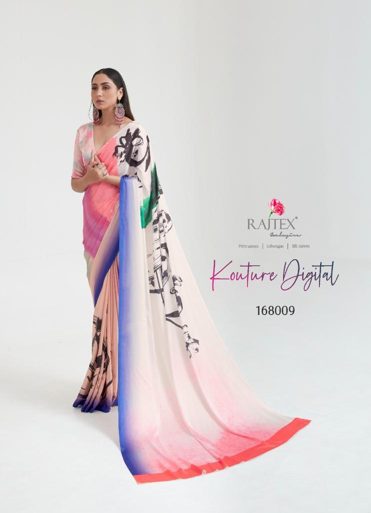 Rajtex Kouture Digital Designer Japan Satin Digital Print Exclusive Collections Of Sarees Wholesale