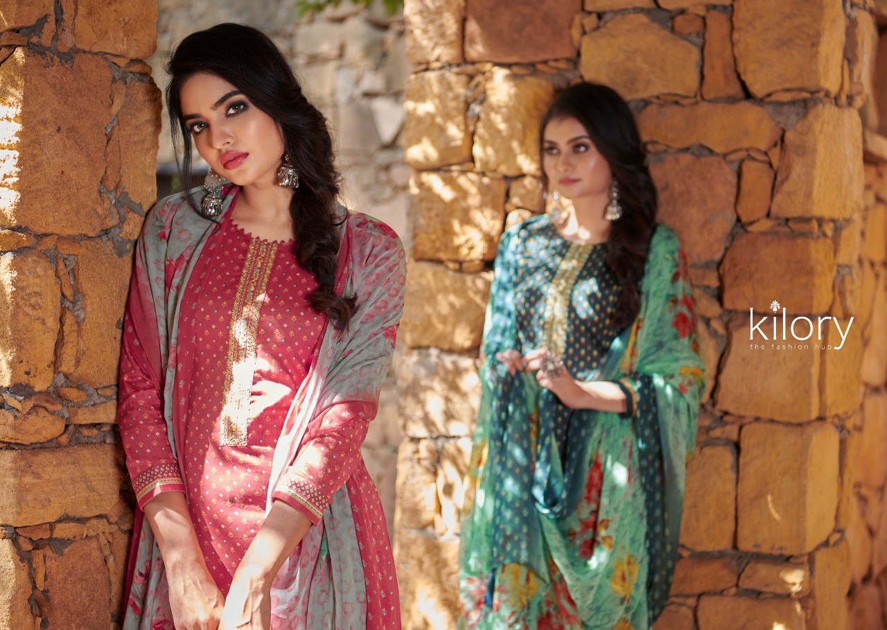 Kilory Naariti Cambric Digital Print With Embroidery Work Suits Wholesale