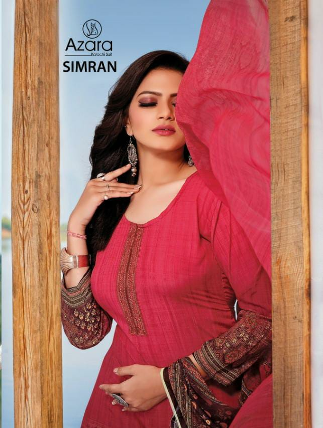Azara Simran Designer Crepe Digital Print With Diamond Work Suits Wholesale