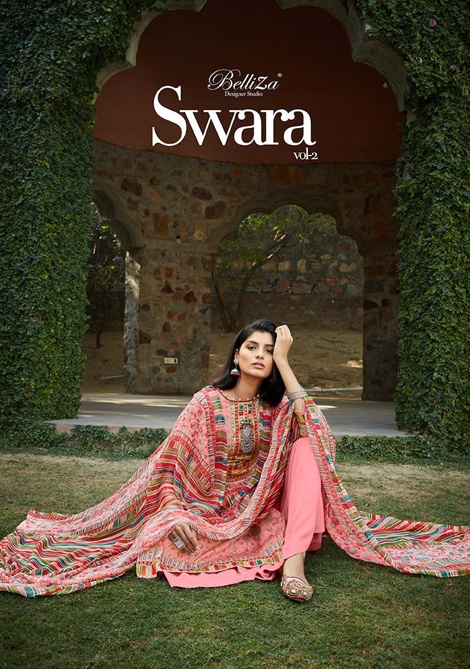 Belliza Swara Vol 2 Designer Jam Cotton Digital Printed Low Range Suits Wholesale
