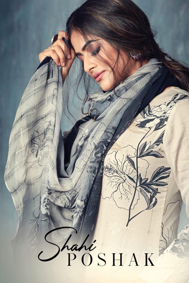 Nirukht Shahi Poshak Designer Cotton Satin Printed With Mirror Work Elegant Suits Wholesale