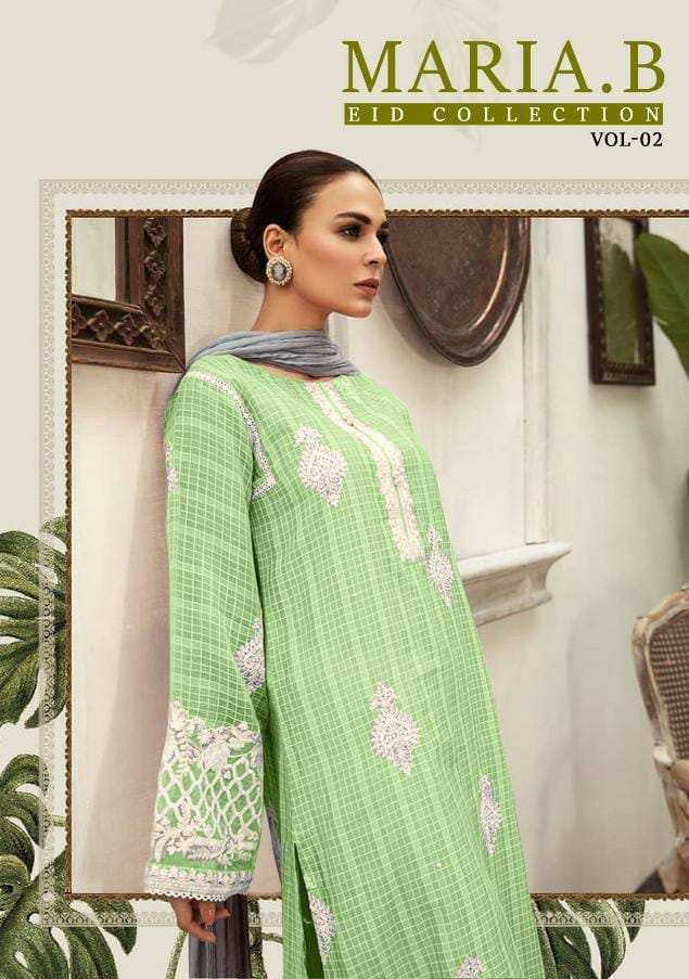 Kaara Suits Maria B Eid Collection Vol 2 Designer Net With Heavy Embroidery Work Suits Wholesale