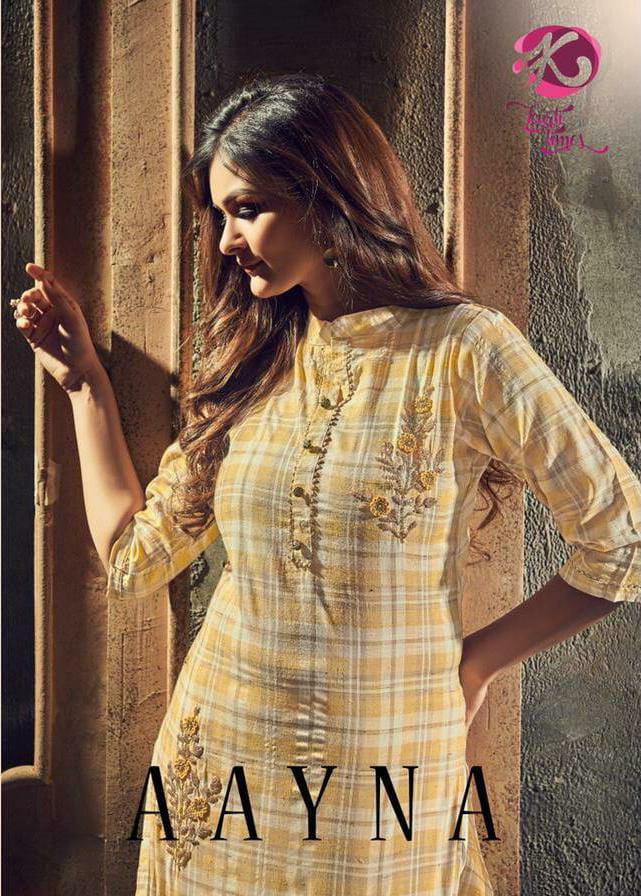 Kurti Times Aayna Cotton Handwork Low Range Kurtis Wholesale