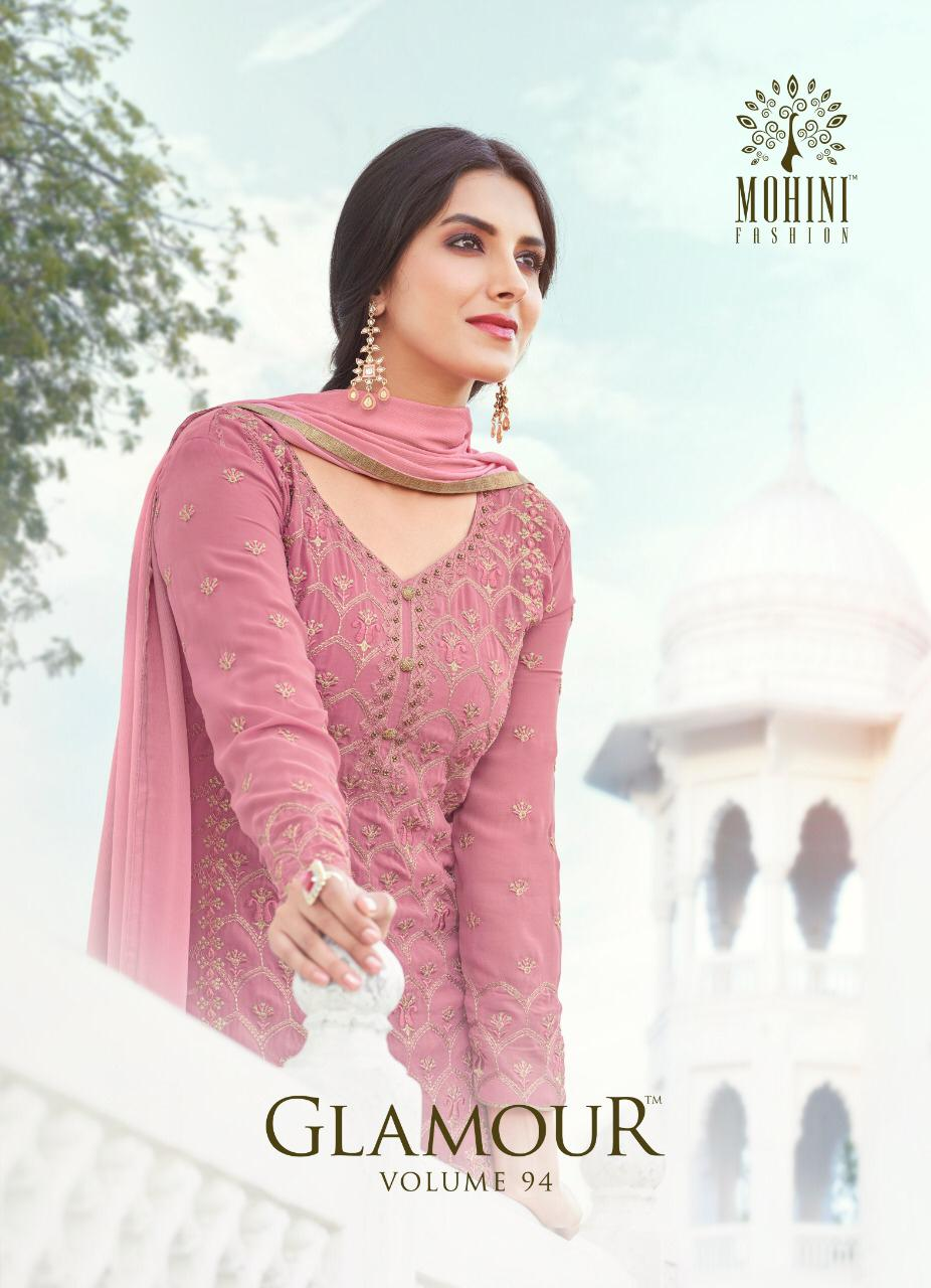 Mohini Fashion Glamour 94 Designer Georgette With Embroidery Work Partywear Suits Wholesale