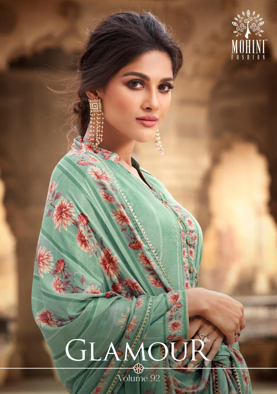 Mohini Fashion Glamour 92 Designer Natural Crepe Digital Print With Embroidery Work Suits Wholesale