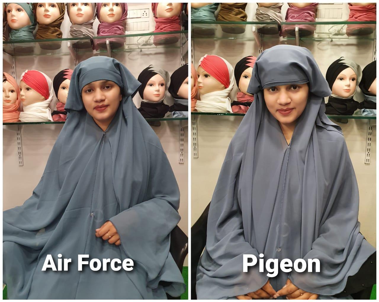 Tehran Hijab Designer Instant Wear Hijab Dupatta With Four Buttons In Singles